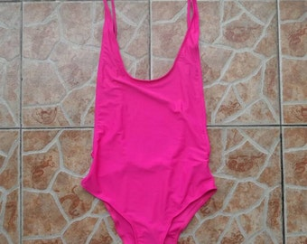 Pink one piece swimsuit