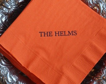 Personalized Napkins with Name - Set of 50