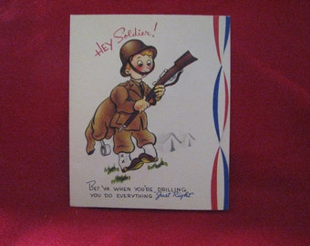 WWII Vintage Greeting Card