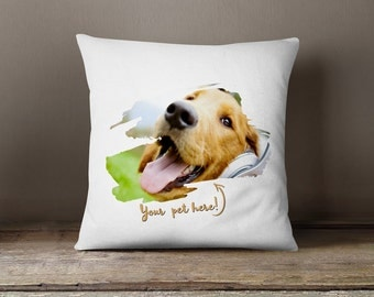Throw pillow Case pets personalized pets pillow custom cushion pillow cover cute pets pillow case custom pillow cover print my pets photo