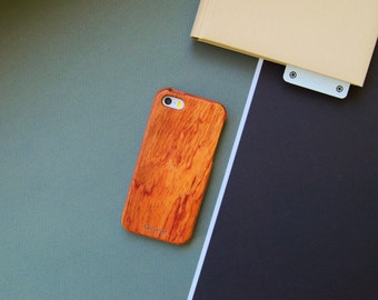 25% OFF! Wooden iPhone SE case, Wood iPhone 5s Case, iPhone 5 wooden case, Red wood case iPhone 5, LCD screen + box // Red Wood!