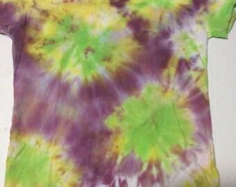 Purple, Green, and Yellow Bursts-Ladies Medium