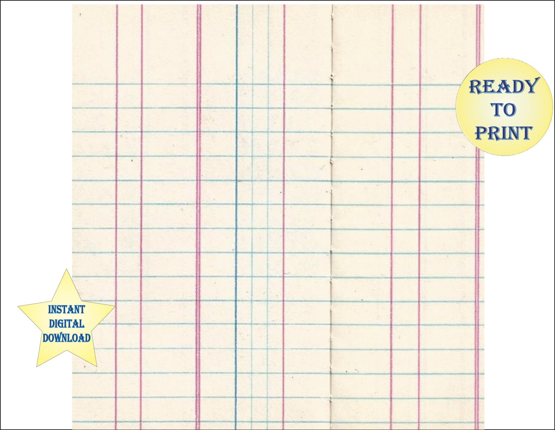 Blank Ledger Sheet Scrapbook Sheet Printable 12X12 Digital File – Printable Bank Ledger
