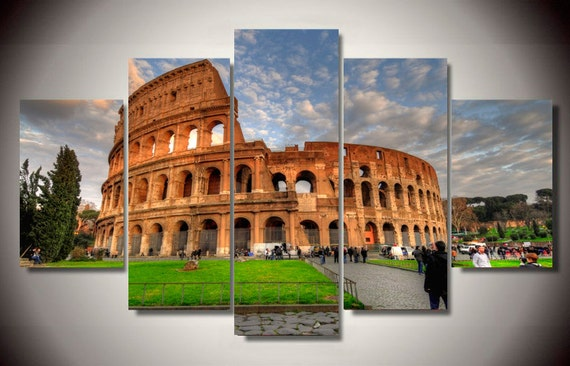 Italian Wall Art For Living Room : Colosseum rome italy living room wall art large canvas print