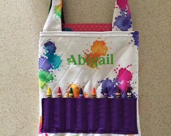 Coloring Book and Crayon Totes