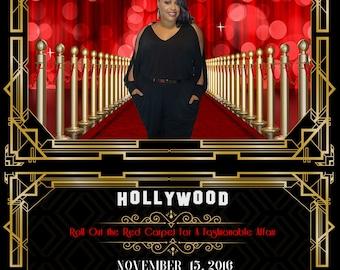 Hollywood Themed Birthday Party Invitation