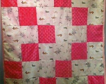 minkie rabbit baby blanket