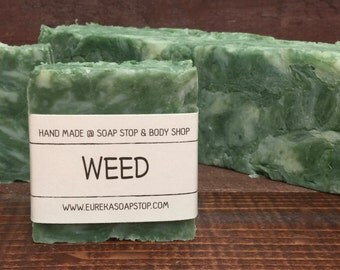 Weed Handmade Hot Process Soap - One Bar