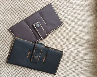 Slim Wallet Leather with card/money/checkbook holder