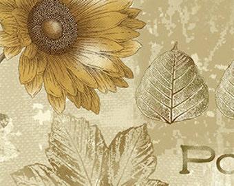 Sunflower Journal Natural 780-7 by Dover Hill for Benartex - 1/2 yd cut