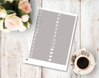 Planner Stickers for the vertical Erin Condren Life Planner - Yellow Bird Little Things Sheet