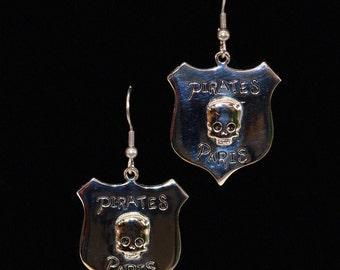 Pirate Shield Earrings