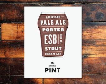 Beer Print - (English) Pint