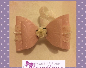 Pearl and Lace Bow