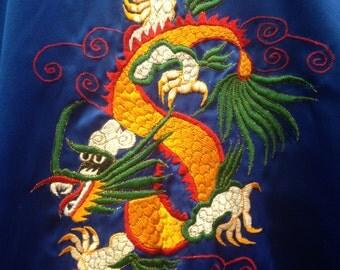 Brilliant Blue Robe with dragon