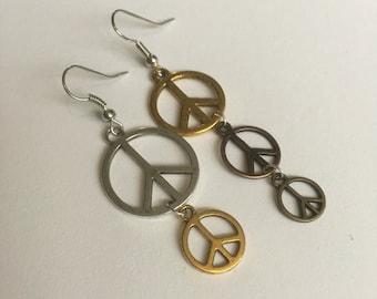 Peace symbol earings **sale**