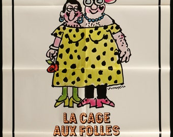 """La Cage Aux Folles (Birds of a Feather) 1979 Vintage Movie Poster 27""""x41"""" - FREE U.S. SHIPPING"""