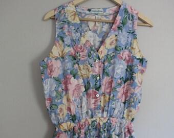 1990s Floral Jumpsuit