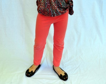 Coral Leggings- Sizes 2T-12- Ankle Length