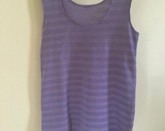 Lavender Stripe Tank Dress