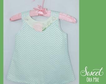 The Perry - girls dress, size 3, sundress, a-line, vintage, handmade