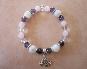 Woman's Fertility Healing Light Bracelet w/ Charm