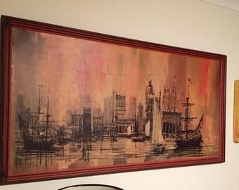 Lee Burr - large Mid-centrury framed print