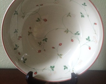 Strawberry Time by Epoch Round Vegetable Bowl