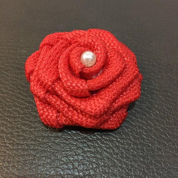 Poppy Red Rolled Rose Fabric Flowers 1 8 Quot Fabric Rosette
