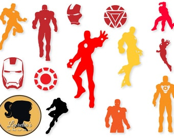 Iron man SVG, Iron man Clip Art, Digital Download for Silhouette Cameo or Cricut, vector, clipart, svg