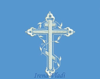 Christian Cross - Machine Embroidery design - 4x4, 5x7 Hoop - 3 sizes, Cross Embroidery/Religious Embroidery/Church Cross/Christening cross