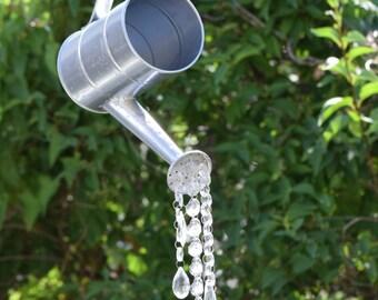 Watering can sun catcher, Garden decor, Yard Art, outdoor sun catcher