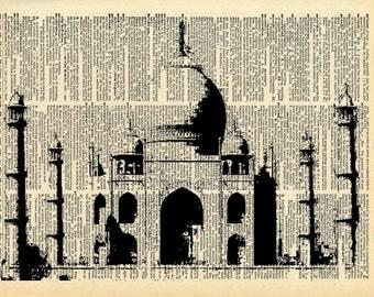 Taj Mahal Vintage Dictionary Print