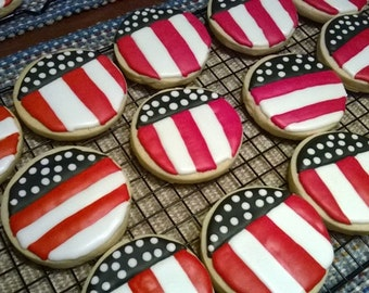 Fourth of July Cookies ( Stars and Stripes)
