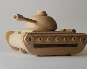 "Wooden toy tank ""Teshka"" ,children toy, eco friendly toy"