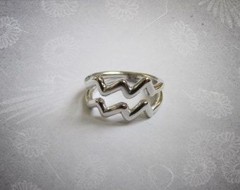 Aquarius Ring- Horoscope Zodiac Ring- Zodiac Sign Ring- Astrology Jewelry- Horoscope Ring- Astrological sign ring- Gift for her