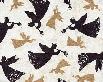 """Angel Fabric/ Christmas Fabric: Noel Wing Prayer Designs Tossed Angels100% cotton Fabric by the yard 36""""x44"""" (K149)"""