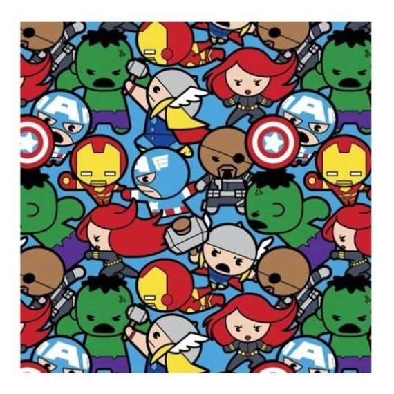 Marvel Fabric : Kawaii Marvel Avengers Characters All In The