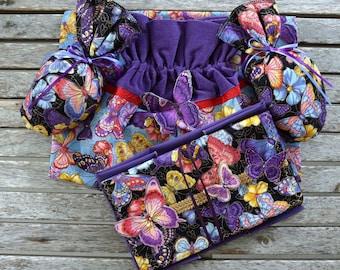 Shoe and Accessory Bag Set, Shoe Bag, Jewelry Bag, Shoe Shapers