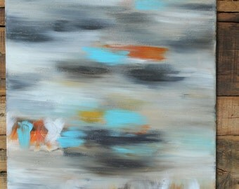 "Abstract Acrylic Canvas Painting, STILL  20"" x 16"" x 0.75"""
