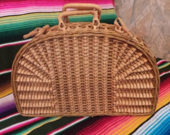 bag Wicker of 1950 s! shape bag