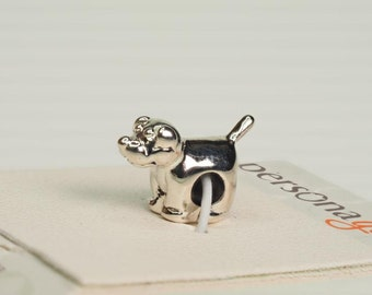 Sterling Silver Puppy Shaped Pendant