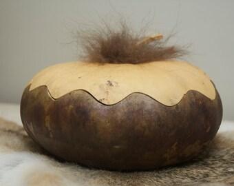 Buffalo Gourd, Lidded Gourd Bowl, Spirit of the Buffalo Bowl