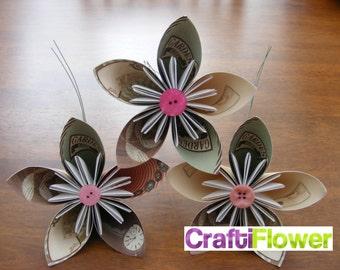 Five Petal Kusudama Flowers With Stem (Kitchen)