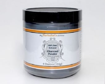 Activated Charcoal Powder 4 oz Pure, Food Grade, Ultra Fine, Hardwood