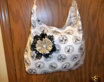 Over the shoulder hobo tote bag