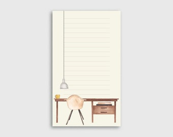 Desk Illustrated Notepad