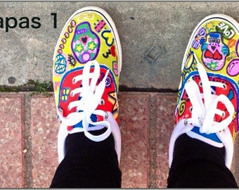 Zapas with color painted by hand.