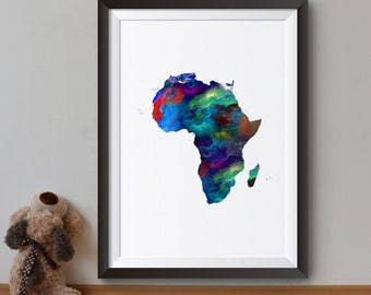 Africa map print Etsy