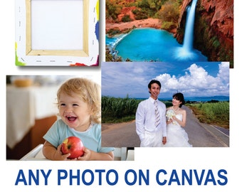 Baby Photo on Artist Canvas - Gallery Wrap Print - 16x20 enlargement of your Photograph